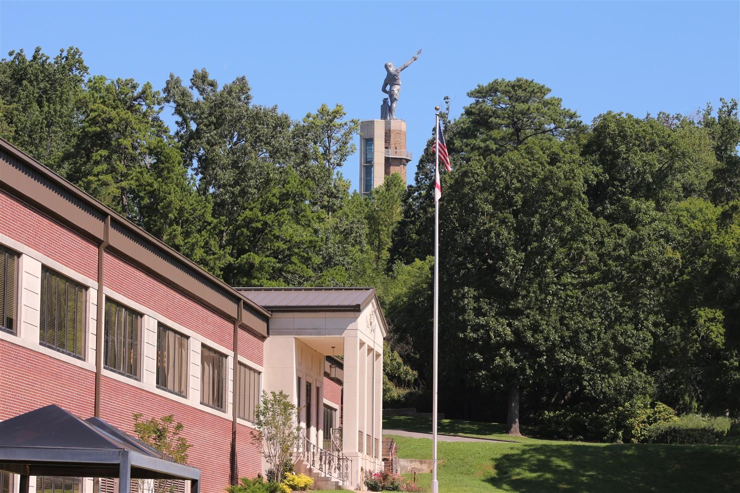 JEFCOED central office building with the Vulcan Statue in the background.