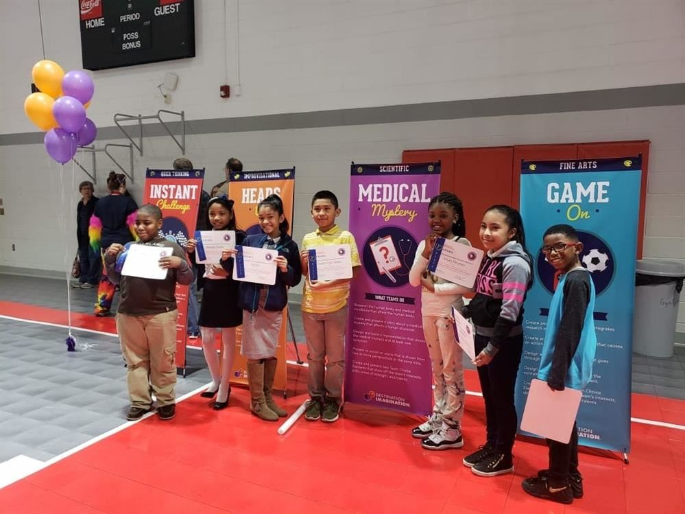 Brighton's winning Destination Imagination Club