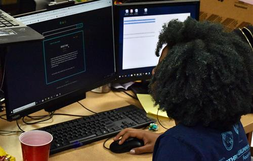 Kori Harris competes in the 2019 Girls Go CyberStart National Championships.