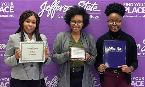 IT/Networking winners Shayla Terry & Kylah Williams, and contestant Tyera Edwards.