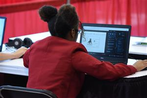 Trinity Bell competes in Cyber Security