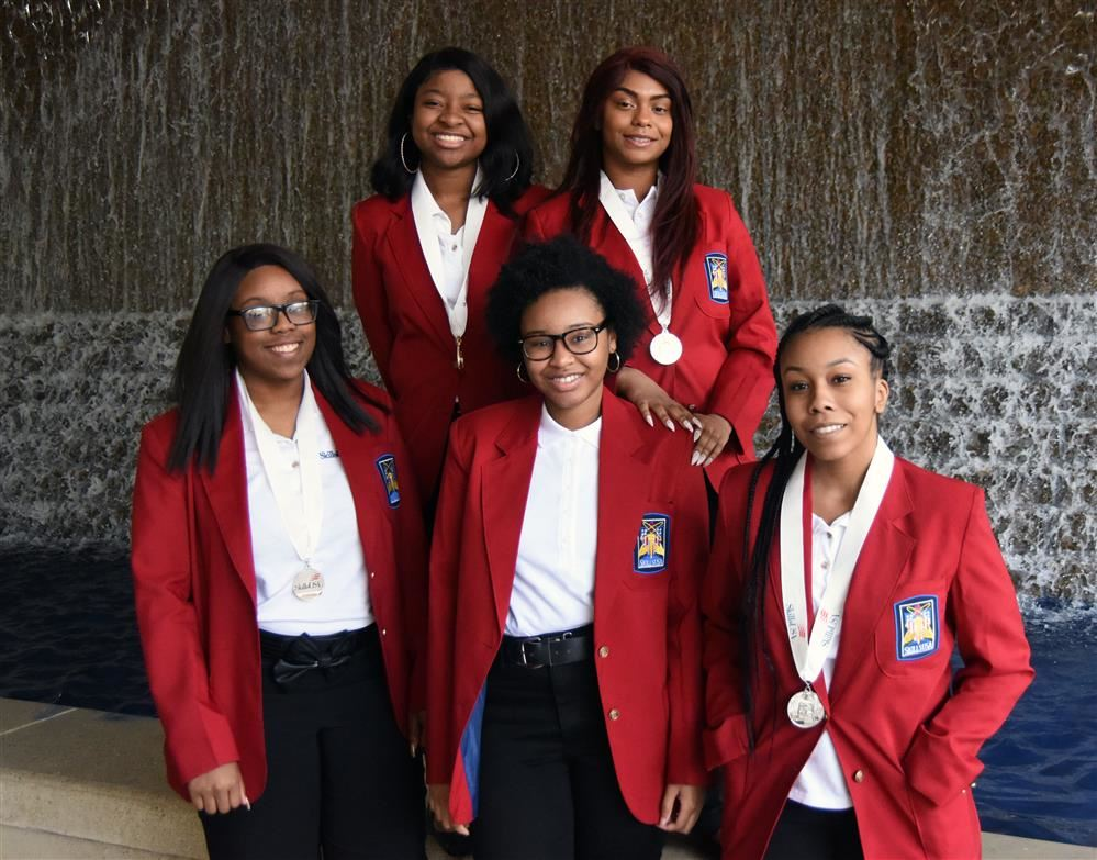 IT students Kori Harris, Trinity Bell, Mia Speights, Kylah Williams, and Shayla Terry.