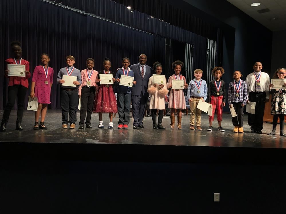 Dr. Walter Gonsulin and 5th Grade Scholars from Chalkville Elementary