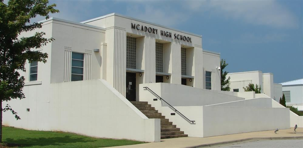 Exterior of McAdory High School