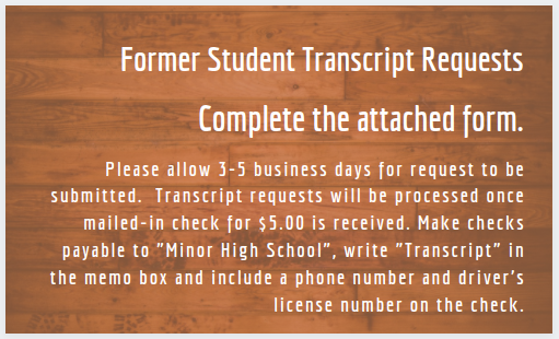 Click Here: Transcript Request for (FORMER MHS STUDENTS) during COIVD-19