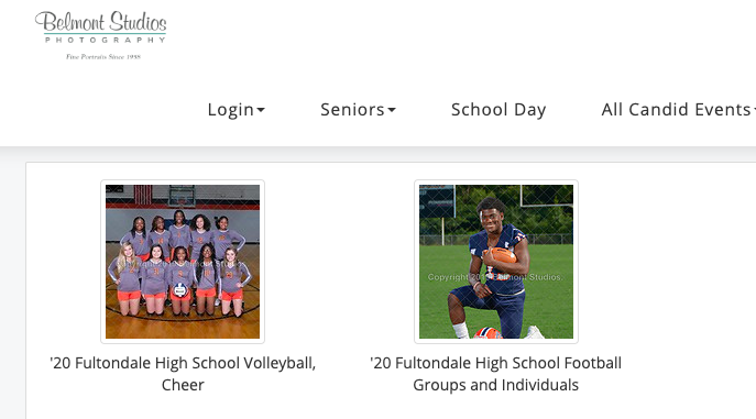 Sports Team & Individual Photo Purchase Link