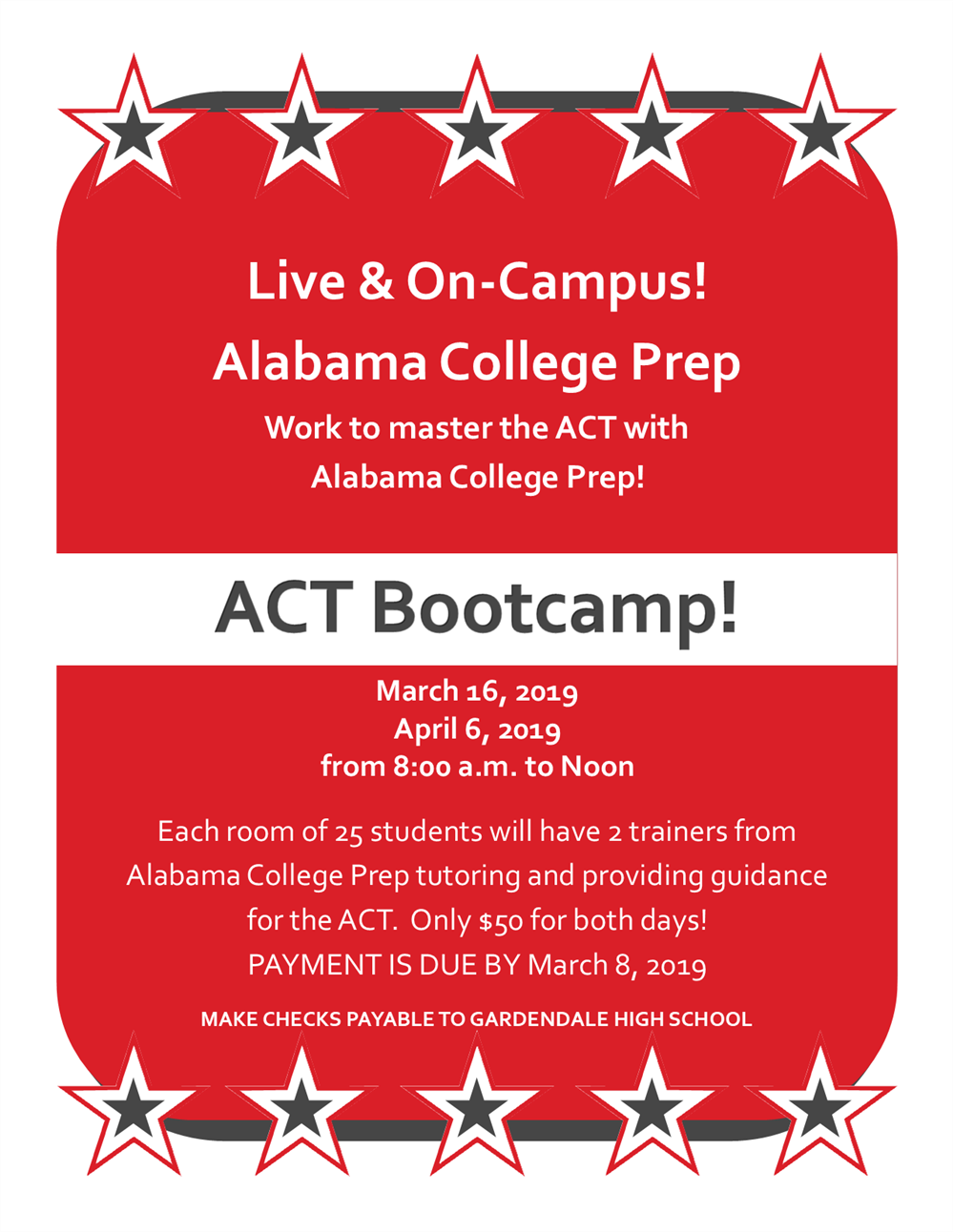 ACT Bootcamp New Dates