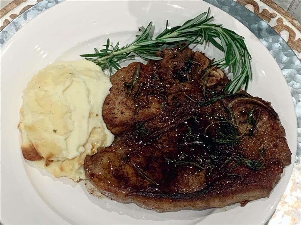 Porterhouse Steak and Mashed Potatoes