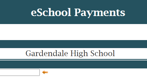 eSchool Payments header