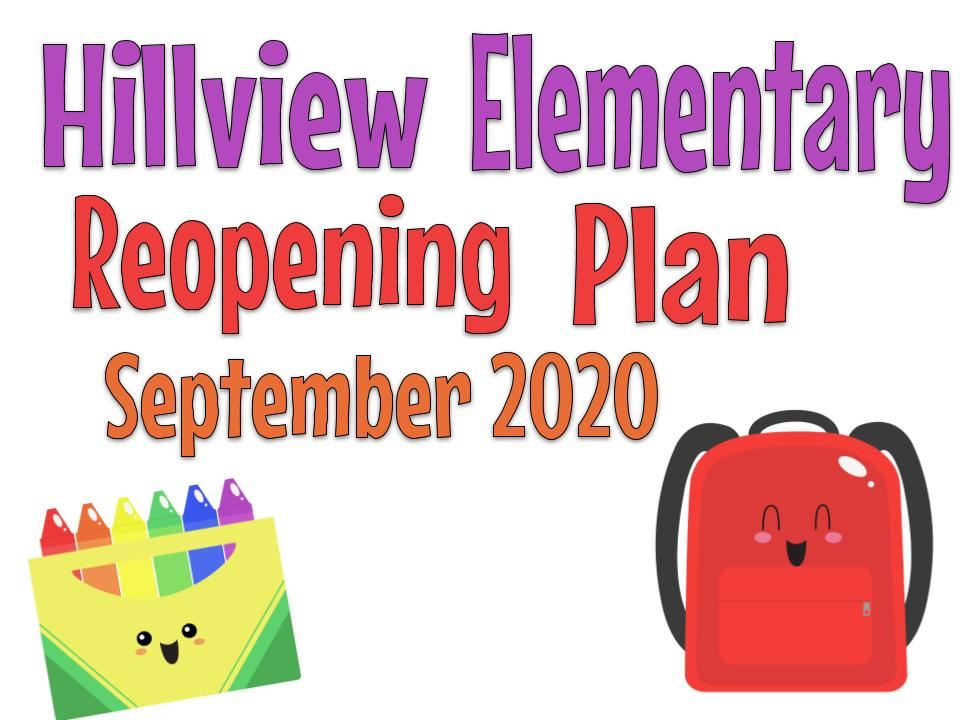 Reopening Plan September 2020