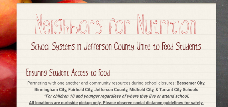 This image tell you how Jefferson County Schools will feed students during school closings.
