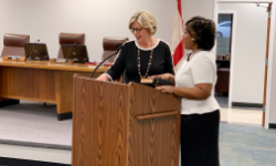 Swearing in of Board Member, Carita Venable