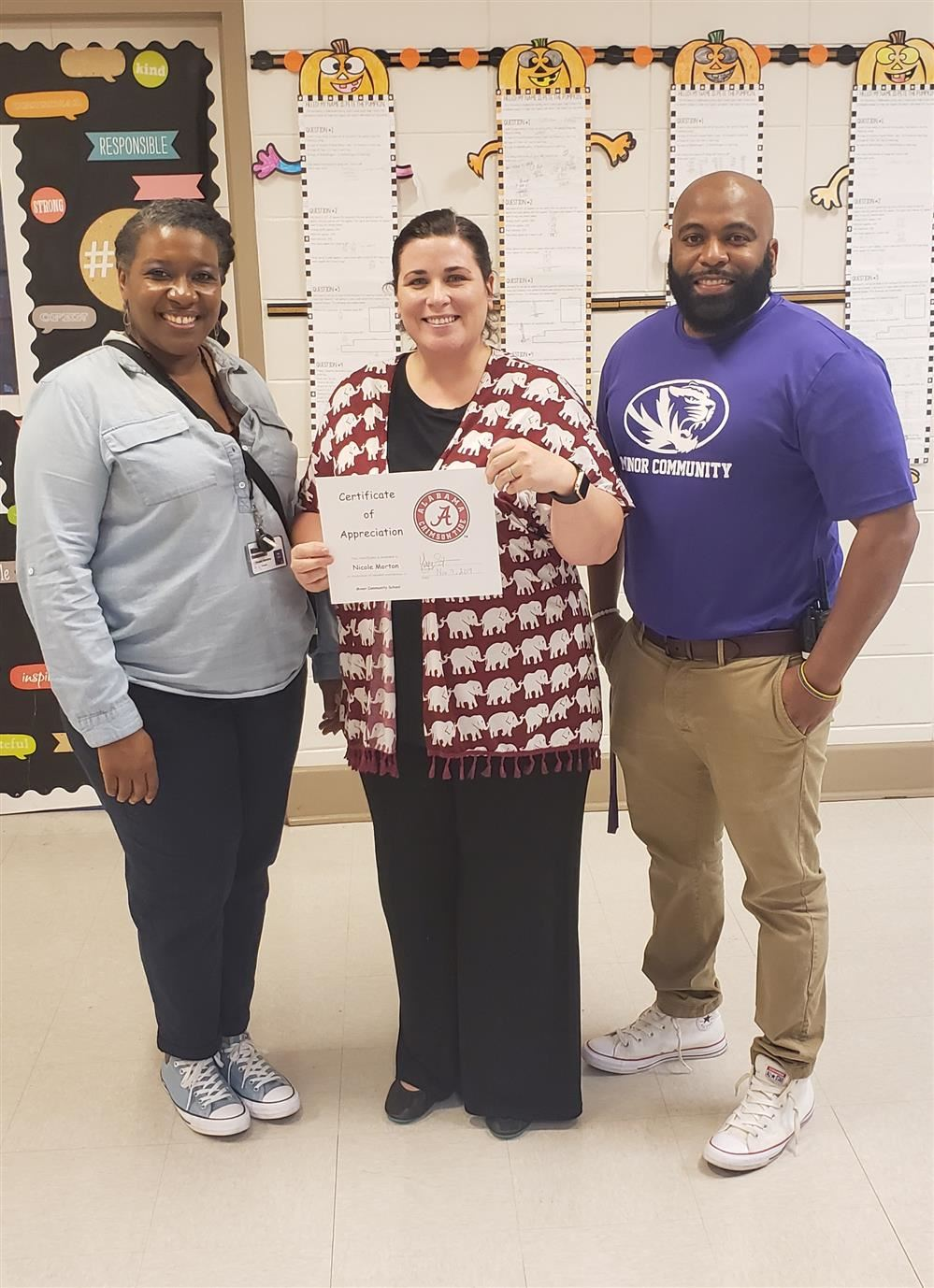 Teacher of the Month, Mrs. Nicole Morton
