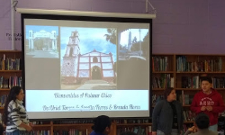 ESL students and their parents present about their culture