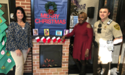 Our office staff won the holiday door decorating contest