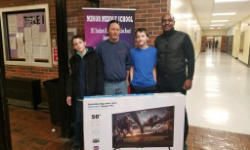 Television giveaway to one of our families