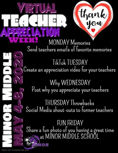 2020 Teachers Appreciation Week