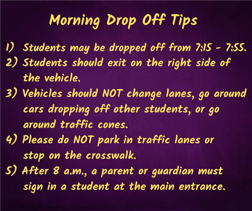 Morning drop off tips.