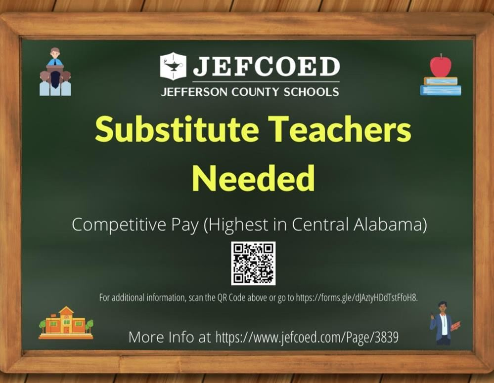 Substitute Teachers Needed