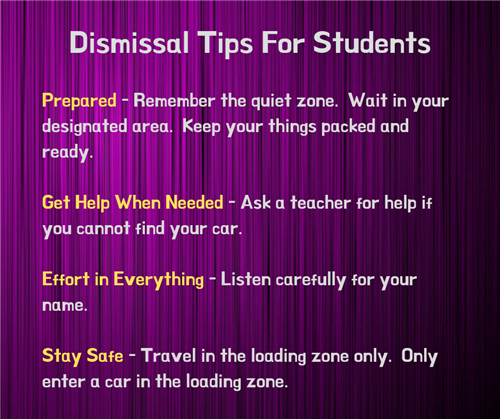 Dismissal tips for students
