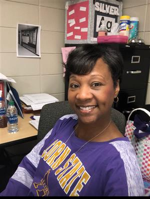 Dr. Wilson in Alcorn State shirt