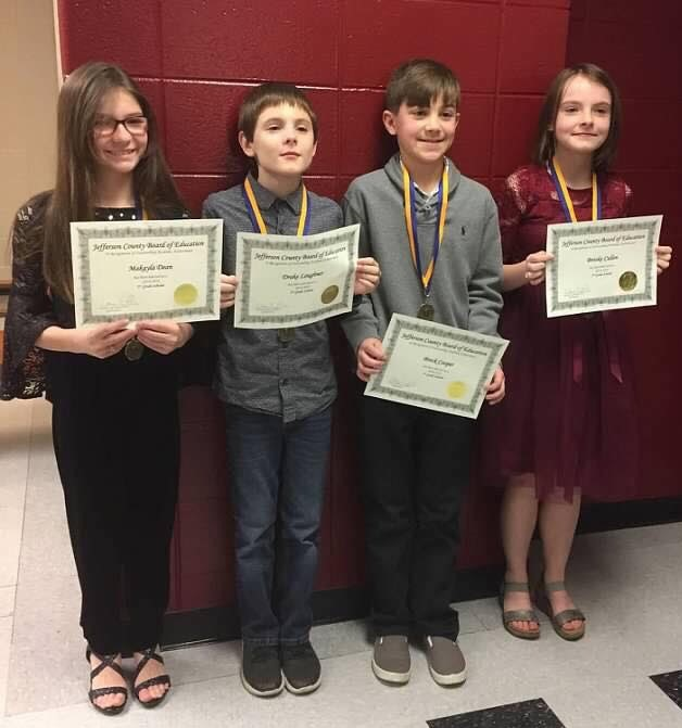 Jefcoed Recognizes Warrior's Fifth Grade Scholars