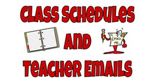 Class Schedules and Teacher Emails Clipart