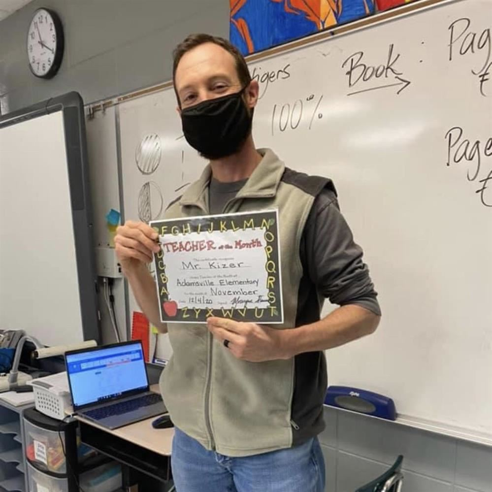 November Teacher of the Month, Ash Kizer