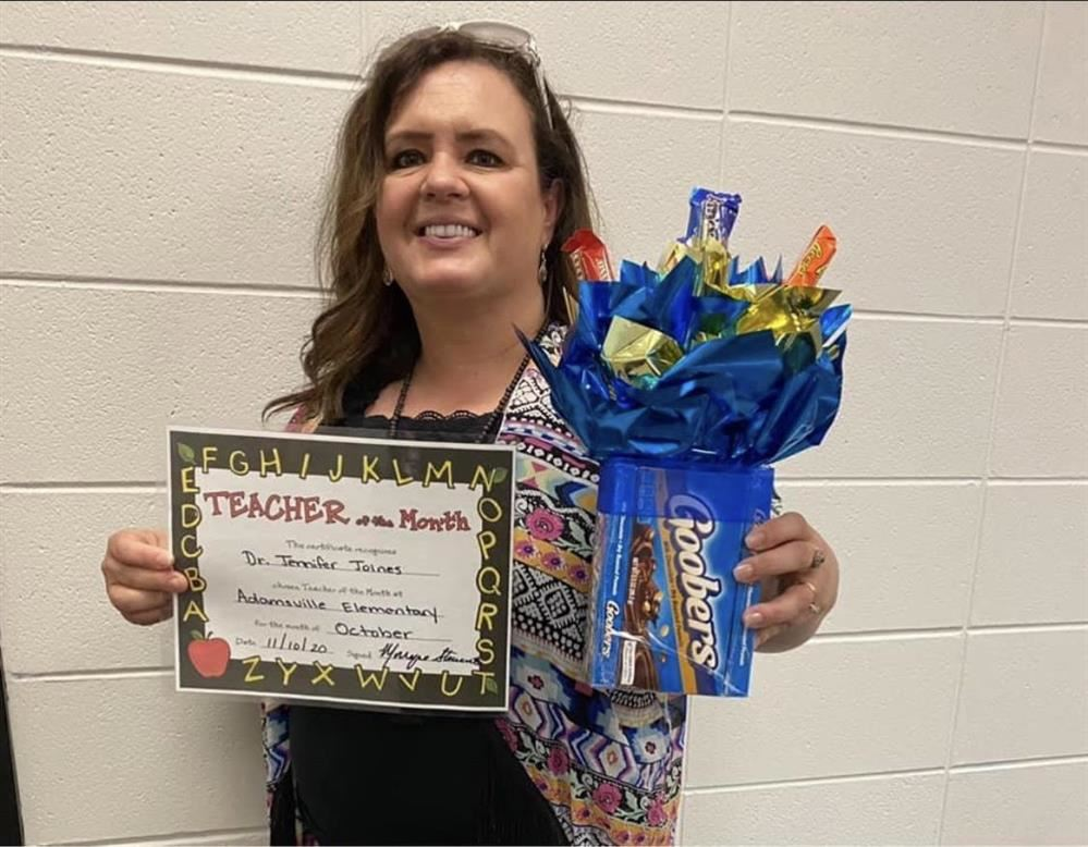 October Teacher of the Month Dr. Jen Joines