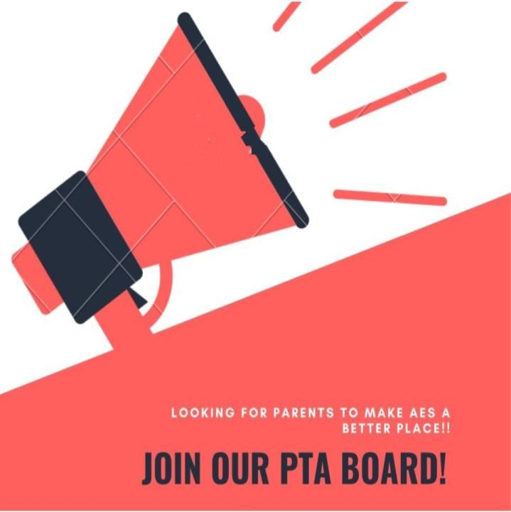 Looking for parents to make AES a better place!  Join our PTA Board!