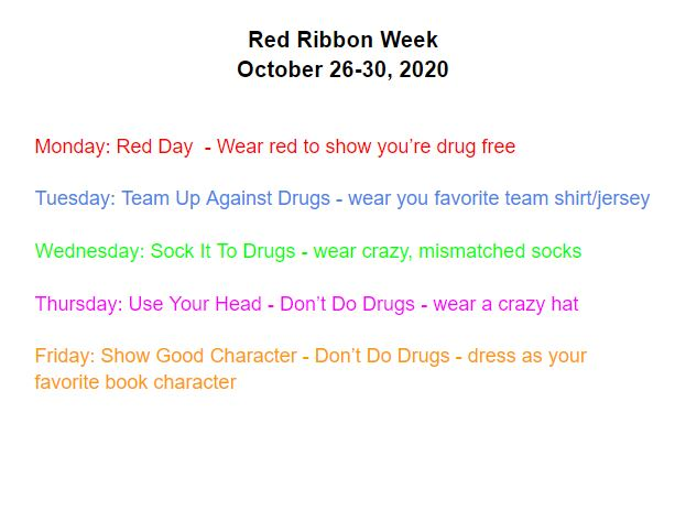 Red Ribbon Week days